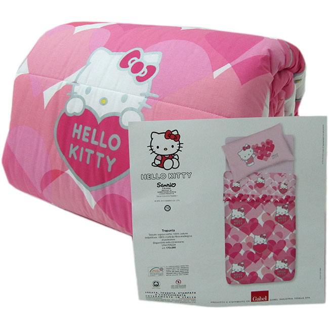 Trapunta hello kitty gabel invernale singola una piazza sweet hearts g568