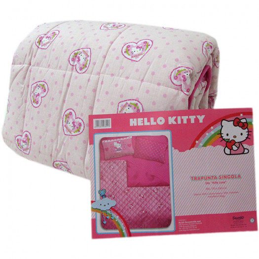 Trapunta Hello Kitty Gabel.Trapunta Hello Kitty Invernale Singola Una Piazza Dis Kitty Love Rosa G338