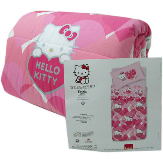 Trapunta Hello Kitty Gabel.Trapunta Hello Kitty Gabel Invernale Singola Una Piazza Sweet Hearts G568