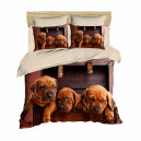 Parure copripiumino Puppies Dogue Morbidissimi digitale 3D Matrimoniale U093