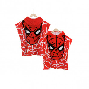 Accappatoio poncho marvel spiderman fronte retro