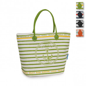 Borsa mare in tessuto canvas enrico coveri summertime