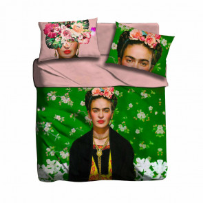Completo lenzuola frida kahlo i love sleeping digitale matrimoniale