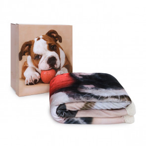 Plaid Morbidotto Bulldog di Daunex con Stampa digitale 130x160 cm