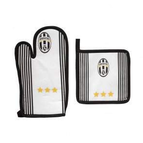 Set barbecue guantone + presina F.C. Juventus ufficiale made in italy bianco nero juve.jpg