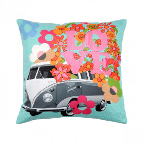 cuscino arredo hippie love bus sfoderabile