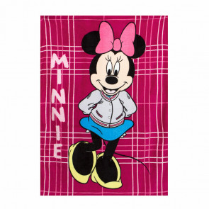 plaid-in-coral-minnie-disney-100x140-cm