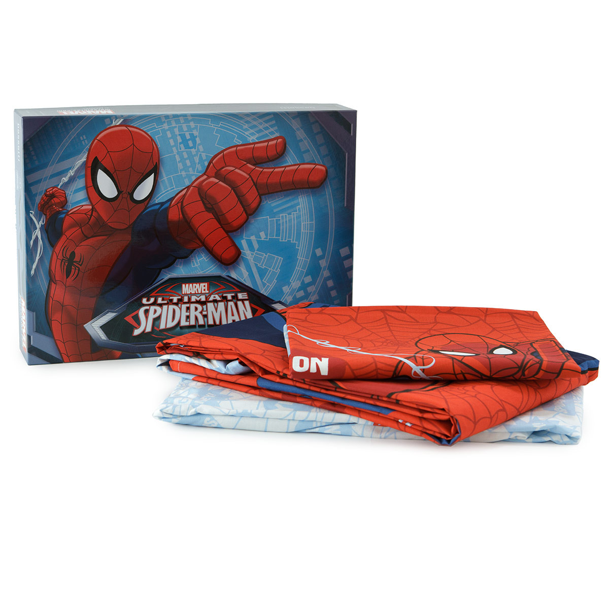 Completo lenzuola spiderman 1 marvel bassetti singolo m840 - Letto di spiderman ...